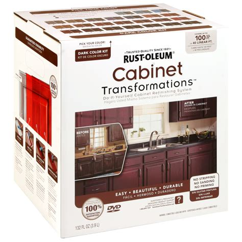 kitchen cabinet refinishing kits rust oleum transformations 9 color cabinet kit