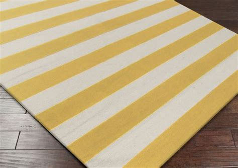 yellow and white striped rug yellow white stripe rug kitchen