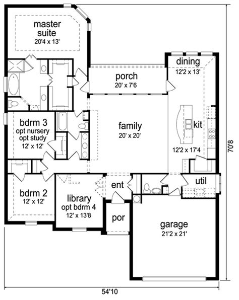 Traditional Style House Plan 3 Beds 2 5 Baths 2300 Sq Ft Square Footage Of Typical House