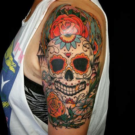 sugar skull girl tattoo designs 60 best sugar skull designs meaning