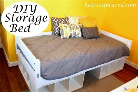 storage bed 27 ways to build your own bedroom furniture build your own storage bed with cubicals home ideas