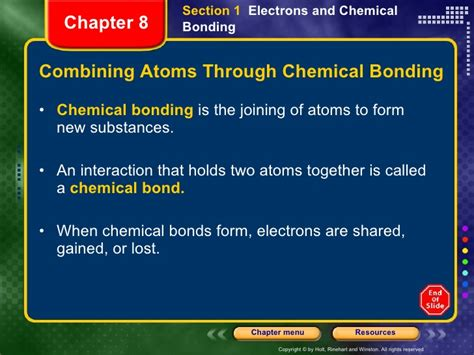 Section 6 1 Ionic Bonding Answers by Physical Science Chapter 8