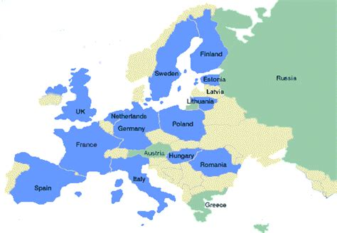 map  western europe blank  travel information