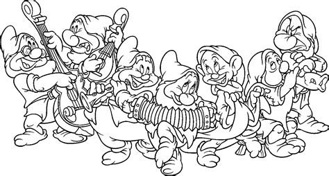 7 seven dwarfs coloring pages