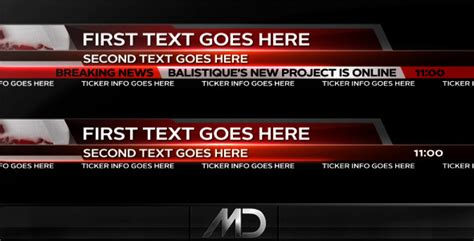 Broadcast News Lower Thirds By Balistique Videohive Broadcast After Effects Template