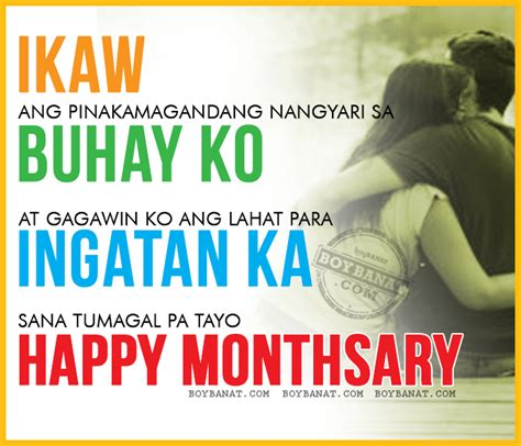 Monthsary Quotes Tagalog Anniversary Quotes Quotesgram