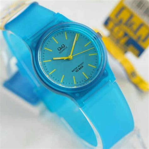 Jam Tangan Original Wanita Qq Qnq Rubber 7 jual jam tangan wanita q q qnq original rubber bening