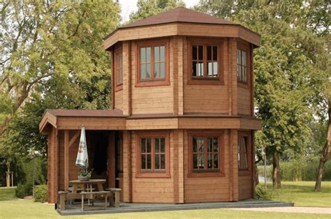 gorgeous octagonal log cabin  costs