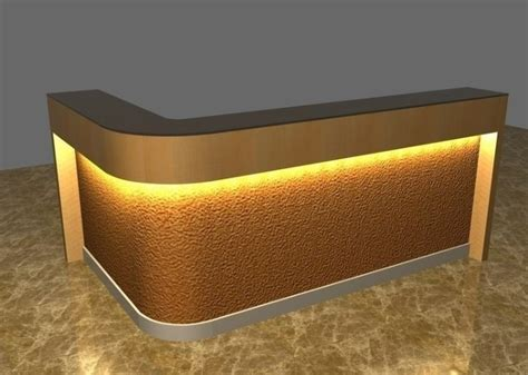 gold desk l white color modern reception desk l shape reception desk