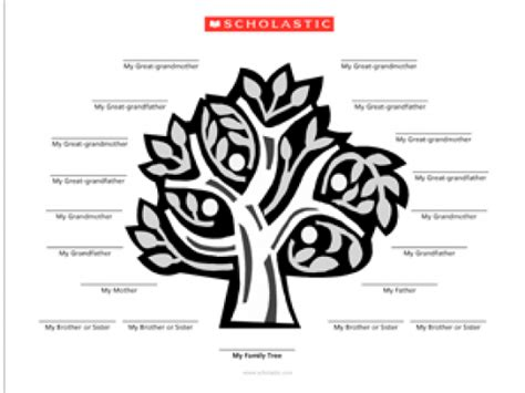 Scholastic Printable Family Tree | family tree template family tree template scholastic