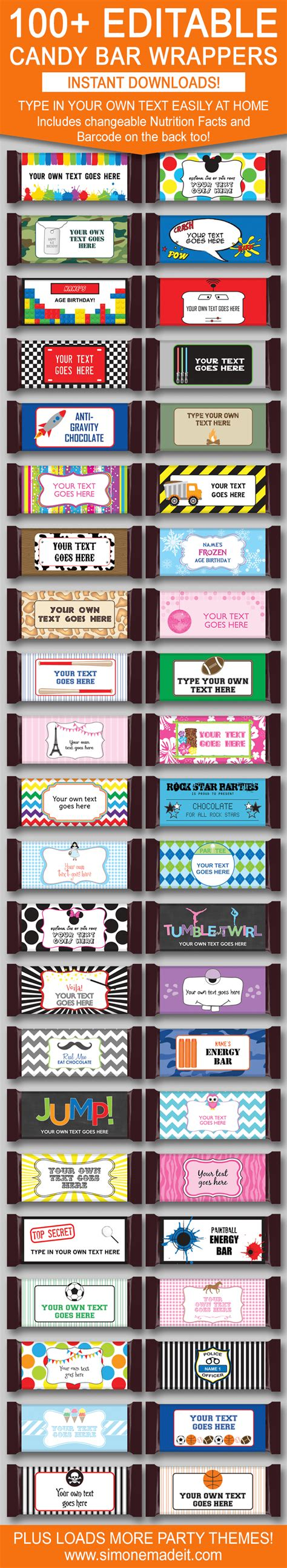 chocolate bar label template diy bar wrapper templates favors chocolate