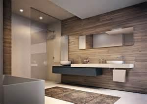 decoration salle de bain finition bois ideeco