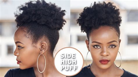 how to do puff in hair watch this how to do a quick high side afro puff with