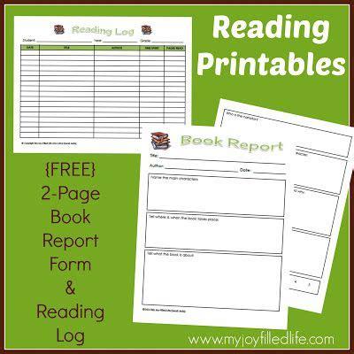 mini book report free reading log book report form book reports