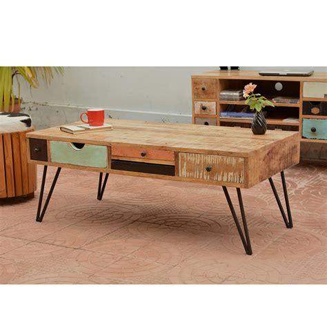 table en bois vintage table basse vintage en bois fusion by drawer