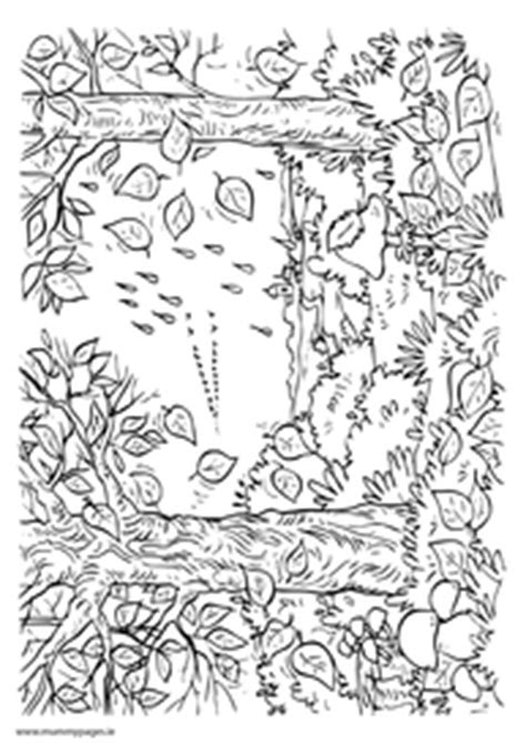 autumn scene coloring pages an autumn forest
