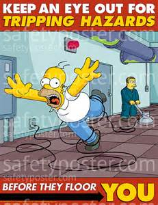 safetyposter com simpsons work posters office safety