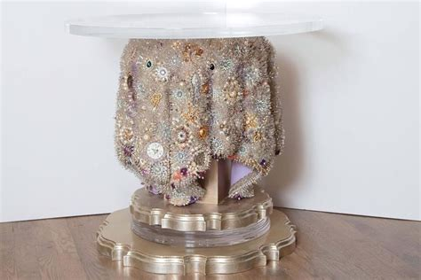 beaded table l vintage bead sculpted table for sale at 1stdibs