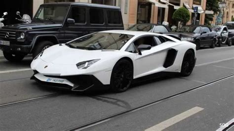 Sv White lamborghini aventador sv in munich awesome sounds and more