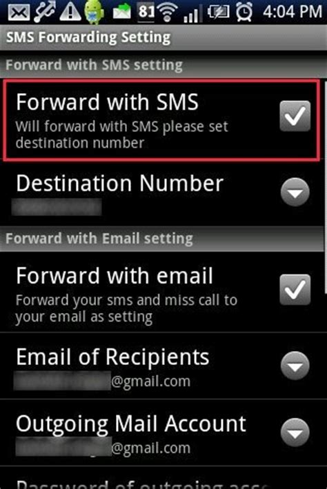 auto forwarding program how to automatically forward sms from android