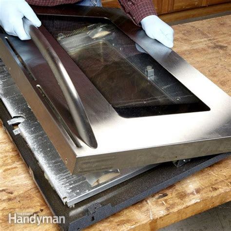 How To Clean Glass Door On Oven by How To Clean Oven Door Glass The Family Handyman