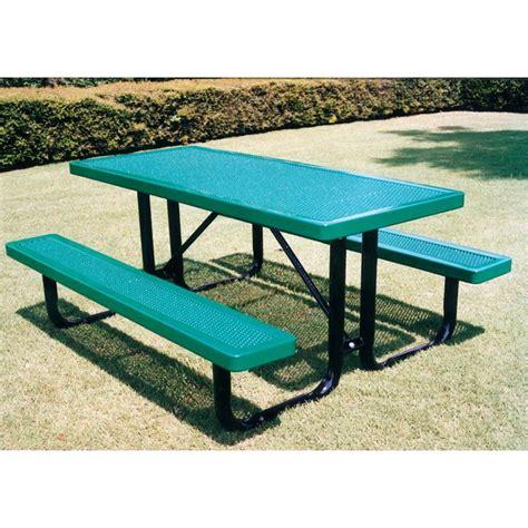plastic coated picnic tables rectangular picnic tables 6 ft thermoplastic coated steel
