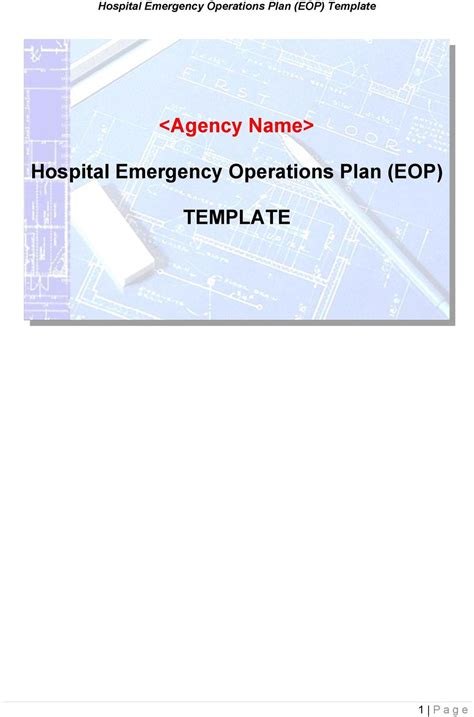 Hospital Emergency Operations Plan Eop Template Pdf Hospital Emergency Operations Plan Template
