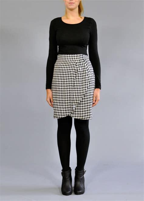 designer houndtooth vintage skirt vintage skirts