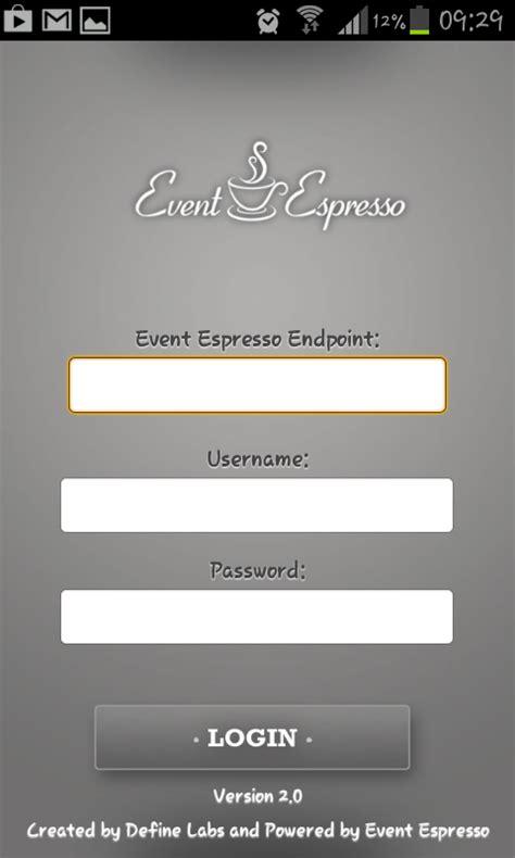 mobile app login mobile apps event espresso event
