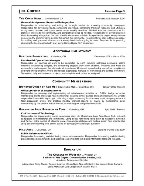 News Resume by News Anchor Resume Resume Ideas