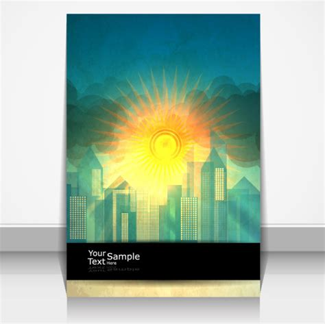 cover design elements sunlight elements cover design vector 3 eps format free