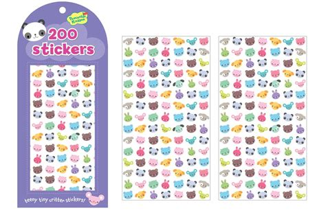 Sticker Small teeny tiny critter stickers by peaceable kingdom