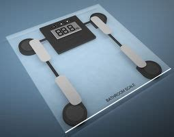 bathroom scale uses white digital bathroom scale for home use 3d model