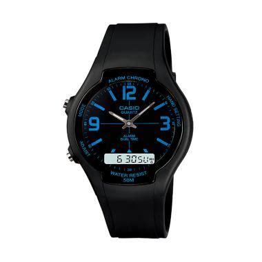 Jam Tangan Casio Aw 90h jual casio jam tangan pria original water resistant dualtime aw 90h 2bvdf hitam