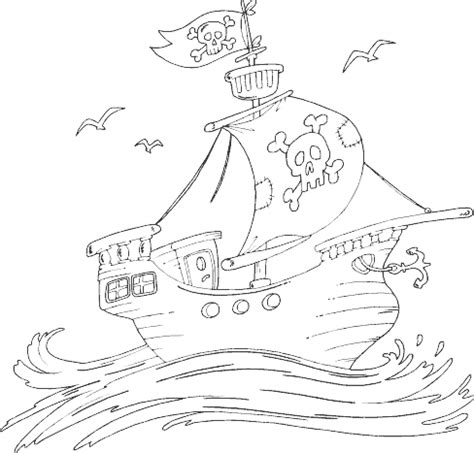 Pirate Ship Coloring Page Coloring Com Pirate Ship Coloring Page
