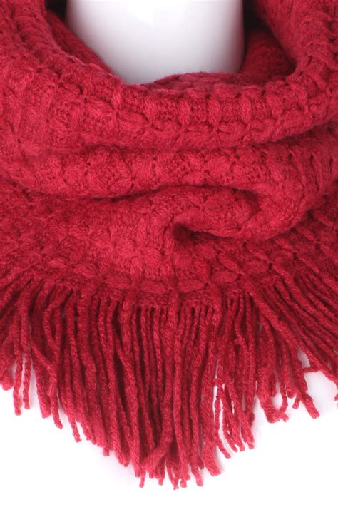 knitting pattern scarf with tassels knitted tassel fringe infinity scarf scarves