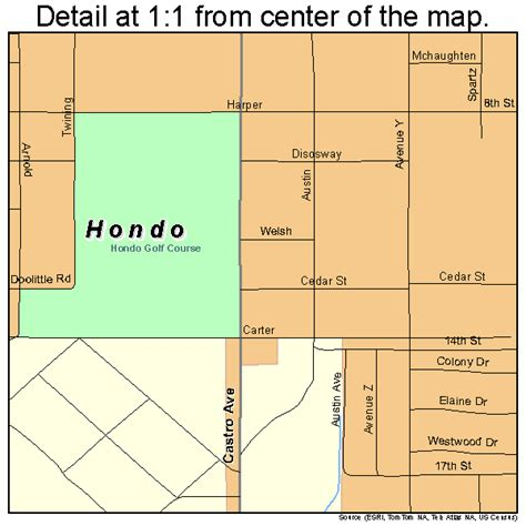 map of hondo texas hondo texas map 4834676