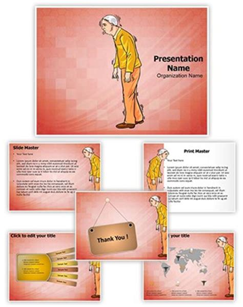 Professional Old Age Parkinson Disease Editable Powerpoint Disease Powerpoint Template