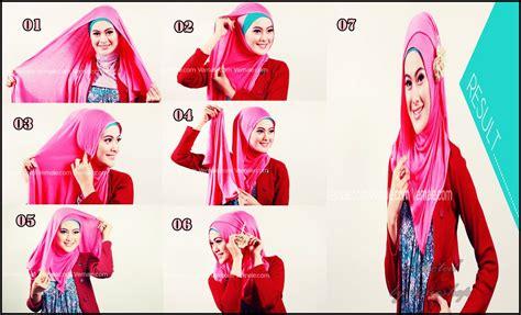 Tutorial Pashmina Rayon | tutorial jilbab cantik dengan pashmina kaos rayon dorie
