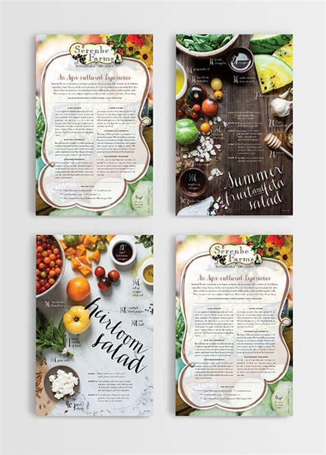 recipe layout templates 94 best images about cookbook design on