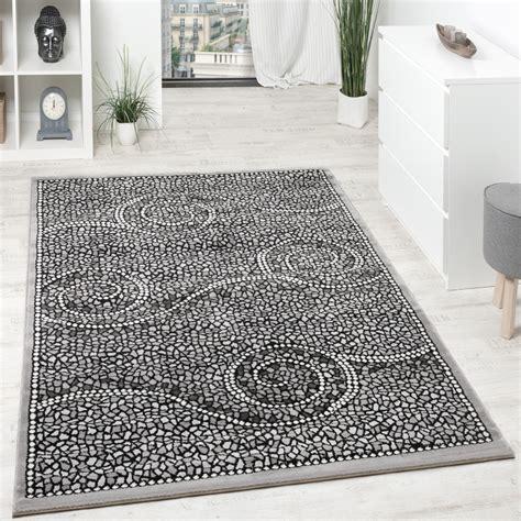 teppich kurzflor grau designer teppich kurzflor klassische ornamente mosaik