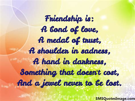 friendship bond quotes friendship is a bond of friendship sms quotes image