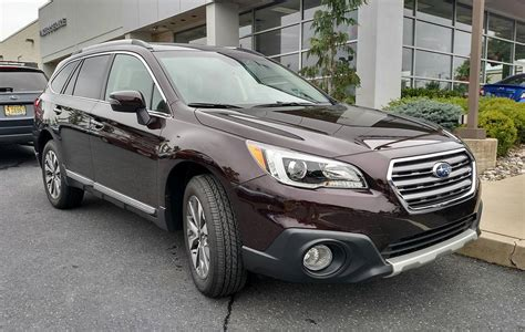 subaru outback touring black 2017 outback touring actual roof rails mtbr com