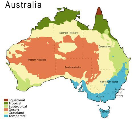 the map of australia australia climate map