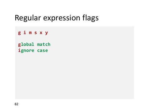 regex pattern ignorecase regular expressions javascript and beyond