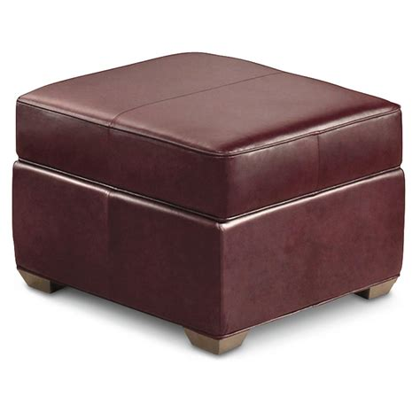 burgundy ottoman homestyles 174 30 quot square leather storage ottoman burgundy