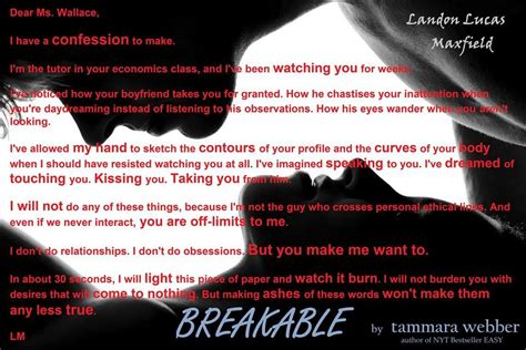 Breakable Tammara Webber breakable by tammara webber letter from lucas to