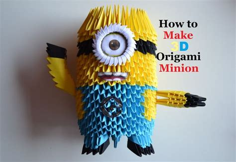How To Make Paper Minions - 3d origami minion