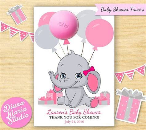 eos templates for baby shower baby shower favors eos lip balm elephant favors
