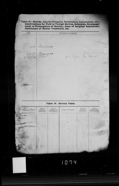 Army Personal Property Record Ww1 Walter Tuck